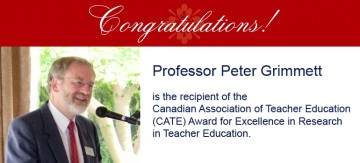 Congratulations to Peter Grimmett