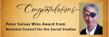Dr. Peter Seixas Wins Award from National Council for the Social Studies