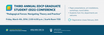 Third Annual EDCP Graduate Student (EGS) Conference