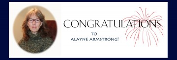 Congratulations to Alayne Armstrong
