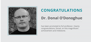 Promotion of Dr. Donal O'Donoghue to Full Professor