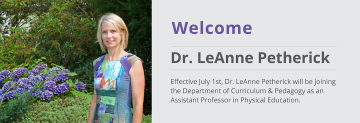Welcome to Dr. LeAnne Petherick
