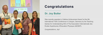 Congratulations to Joy Butler