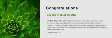 Congratulations to Elizabeth Beattie