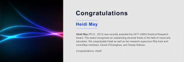 Congratulations to Heidi May