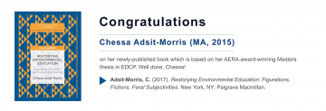 Congratulations to Chessa Adsit-Morris