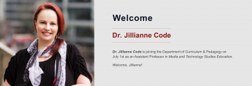 Welcome to Dr. Jillianne Code