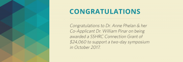 Congratulations to Drs. Anne Phelan and William Pinar