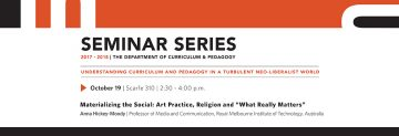 """Materializing the Social: Art Practice, Religion and """"What Really Matters"""""""