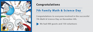 7th Math and Science Family Day