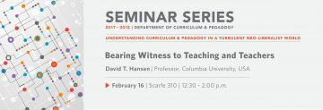 Bearing Witness to Teaching and Teachers