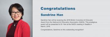 Congratulations to Dr. Sandrine Han
