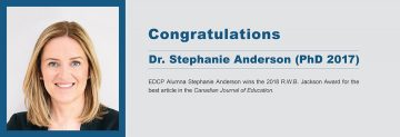 Congratulations to Dr. Stephanie Anderson