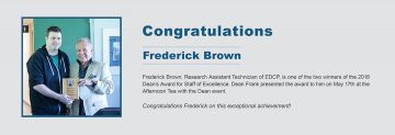 Congratulations to Frederick Brown