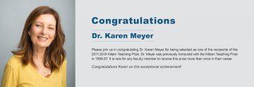Congratulations to Dr. Karen Meyer
