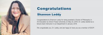 Congratulations to Dr. Shannon Leddy