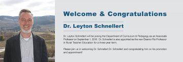 EDCP Welcomes Dr. Leyton Schnellert