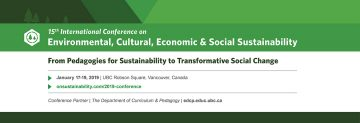 15th International Conference on Environmental, Cultural, Economic & Social Sustainability