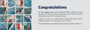 ARTS (Artists, Researchers and Teachers Society) Publication Award