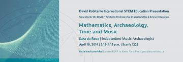 Mathematics, Archaeology, Time and Music