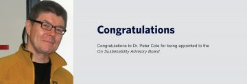Congratulations to Dr. Peter Cole
