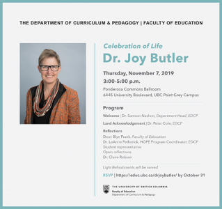Celebration of Joy Butler's Life