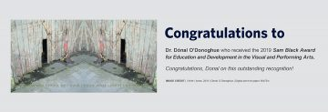 Congratulations to Dr. Dónal O'Donoghue – Recipient of the 2019 Sam Black Award for Education and Development in the Visual and Performing Arts