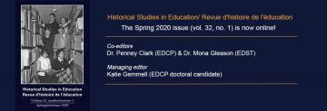 Spring 2020 Issue of Historical Studies in Education/Revue d'histoire de l'éducation