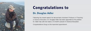 Congratulations to Dr. Douglas Adler – Assistant Professor of Teaching Appointment