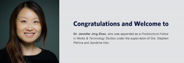 Congratulations and Welcome to Dr. Jennifer Jing Zhao