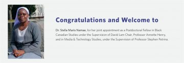 Congratulations and Welcome to Dr. Stella Maris Namae